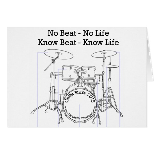 Positive message for drummers, musicians, dancers card