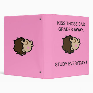 Positive message for school aged girls. 3 ring binder