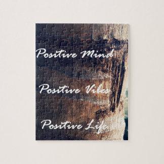 Positive Mind, Positive Vibe, Positive Life Jigsaw Puzzle