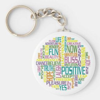 Positive, motivating and inspirational words keychain