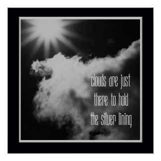 Positive Motivation Sun and Clouds SCMX Poster