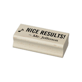 """Positive """"NICE RESULTS!"""" Educator Rubber Stamp"""
