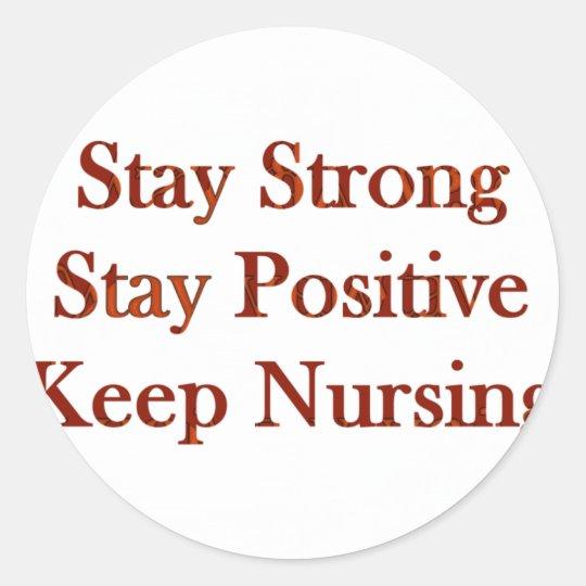 Positive Nurse Classic Round Sticker