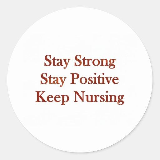 Positive Nurse Round Sticker