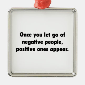 Positive Ones Appear Metal Ornament