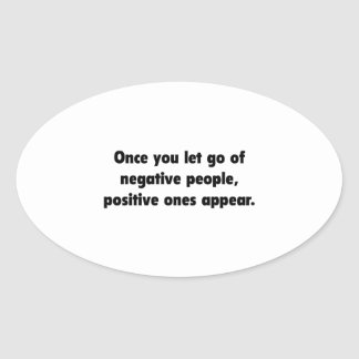 Positive Ones Appear Oval Sticker
