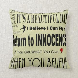 Positive Pillow Home Decor Song Titles