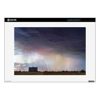 Positive Pink Lightning On the Prairie Skin For Laptop