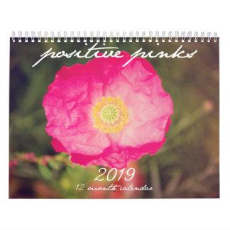 Positive Pinks Floral Calendar