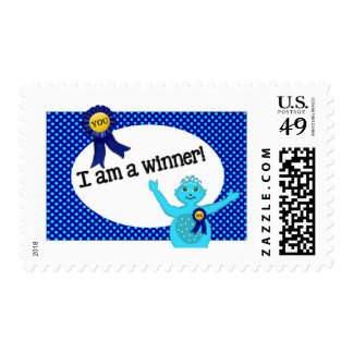 Positive Postage – I AM A WINNER Turquoise Alien