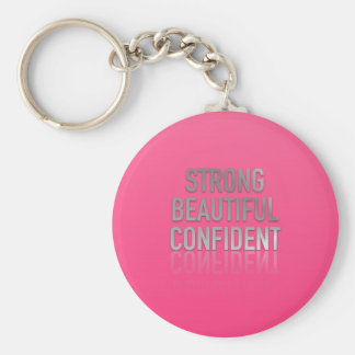 Positive Quotes Basic Round Button Keychain