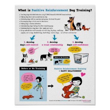 "lilita Positive Reinforcement Dog Training 16"" x 20"" Poster"
