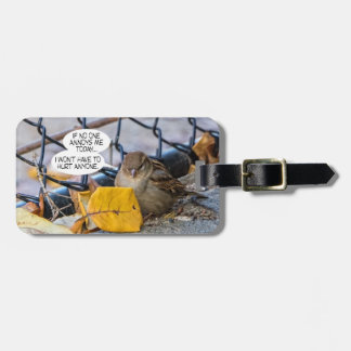 Positive Sparrow Luggage Tag