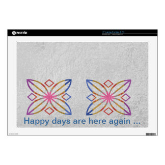"""Positive Strokes - Display Happy Designs Decal For 17"""" Laptop"""