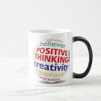 Positive think brings positive things magic mug