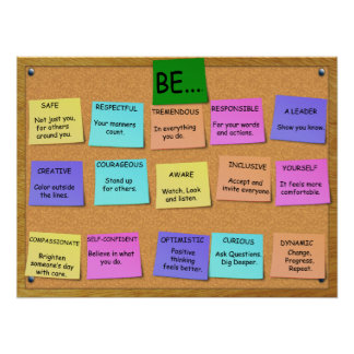 POSITIVE THINKING -  15 Points Poster