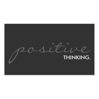 positive thinking. (color customizable) Double-Sided standard business cards (Pack of 100)