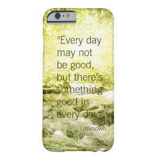 Positive thinking life quote waterfall background barely there iPhone 6 case