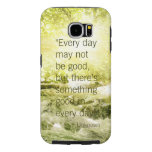 Positive thinking life quote waterfall background samsung galaxy s6 cases