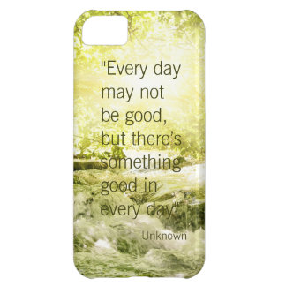Positive thinking life quote waterfall background cover for iPhone 5C