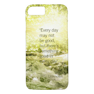 Positive thinking life quote waterfall background iPhone 8/7 case