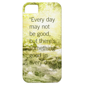 Positive thinking life quote waterfall background iPhone SE/5/5s case