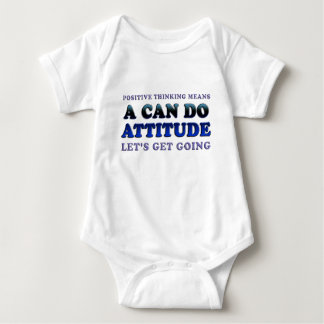 Positive Thinking Means Baby Bodysuit