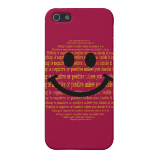Positive Thinking Smiley Case For iPhone SE/5/5s