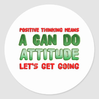 Positive Thinking Sticker