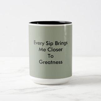 positive thinking Two-Tone coffee mug