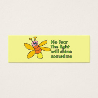 positive thoughts bookmark mini business card