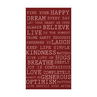 Positive Thoughts Canvas Print