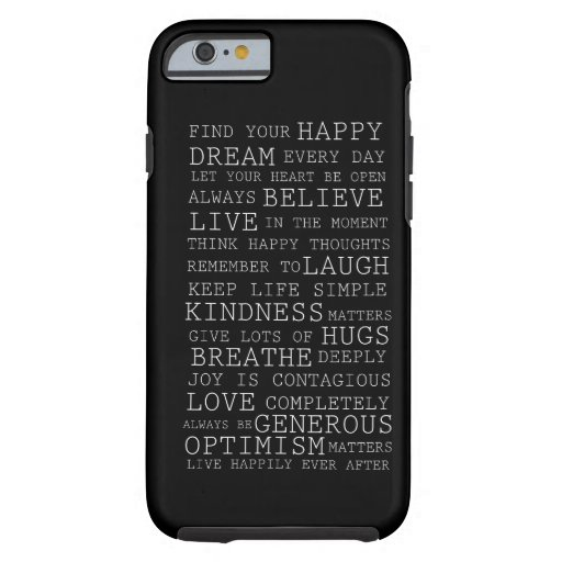 Positive Thoughts iPhone 6 Case