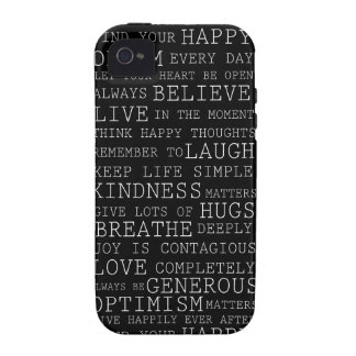 Positive Thoughts iPhone 4/4S Cases