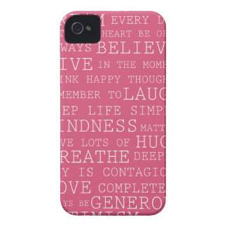 Positive Thoughts iPhone 4 Cover