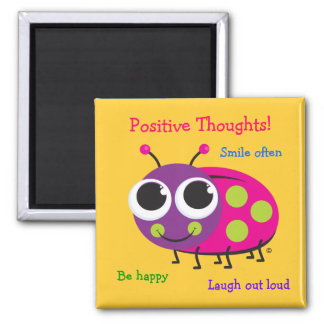 Positive Thoughts - Cute Ladybug Magnet