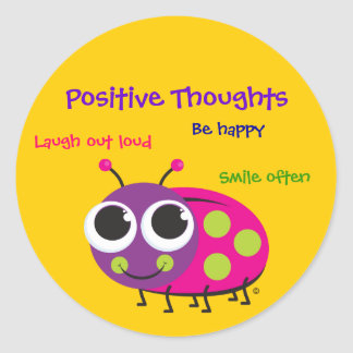 Positive Thoughts - Cute Ladybug Stickers