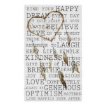 Positive Thoughts Inspirational Dream Catcher Poster