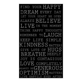 Positive Thoughts Inspirational Motivational Poster