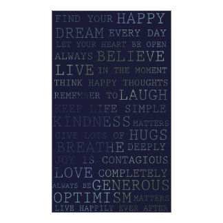 Positive Thoughts Inspirational Words Posters