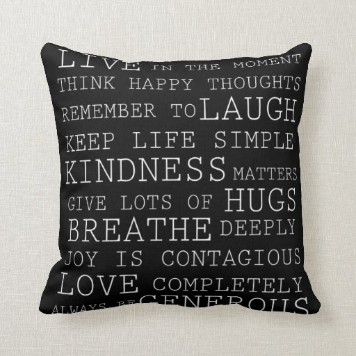 Positive Thoughts Pillows