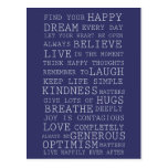 Positive Thoughts Postcards