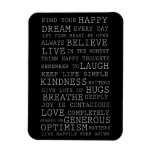 Positive Thoughts Rectangle Magnets