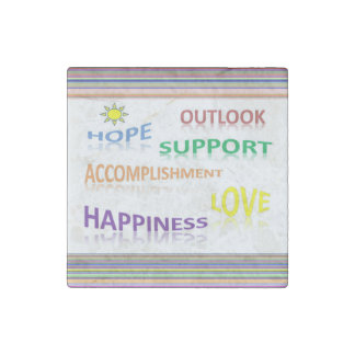 Positive Thoughts Stone Magnet