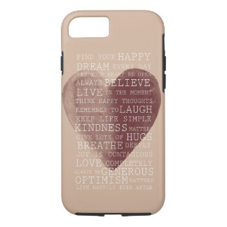Positive Thoughts Watercolor Heart iPhone 8/7 Case