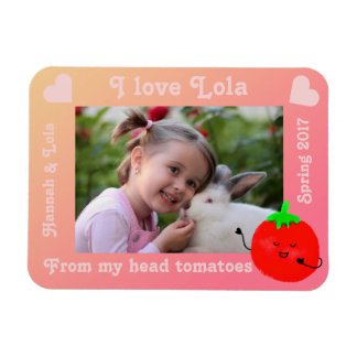Positive Tomato Pun - From My Head Tomatoes Magnet