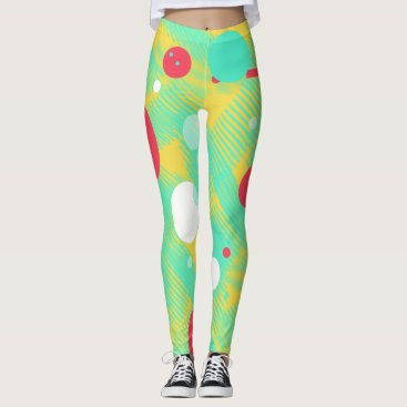 loscrazyavocados Positive Vibes Bright Colors Leggings