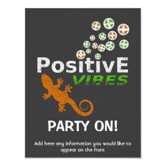 "Positive Vibes Customizable 4.25"" X 5.5"" Invitation Card"