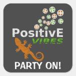 Positive Vibes Customizable Square Sticker