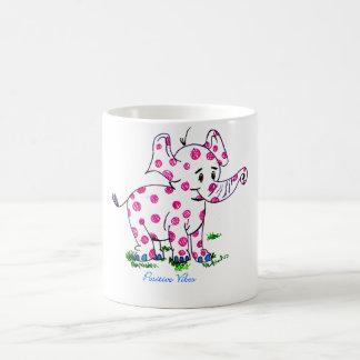 Positive Vibes Elephant Classic White Coffee Mug